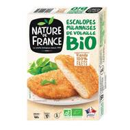3422210447647 - Nature De France - Escalope volaille milanaise bio