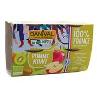 3431590013748 - Danival - Purée pomme kiwi bio 100% origine France