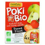 3431590008348 - Danival - Poki bio Purée pomme-fraise
