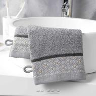 3574388012049 - Douceur D Interieur - 2 Gants de toilette Belina Gris