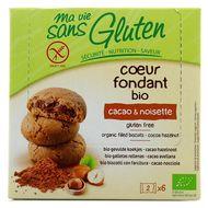 3380380074349 - Ma Vie Sans Gluten - Biscuit bio coeur fondant cacao noisette