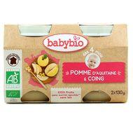 3288131510750 - Babybio - Pomme d'Aquitaine et Coing bio, dès 4 mois