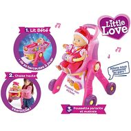 3417761541050 - Vtech - Ma poussette 3 en 1 interactive- Little love