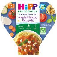 4062300163751 - Hipp - Bonne Nuit Spaghetti Tomates Mozzarella  Bio dès 12 mois