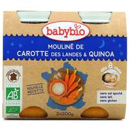 3288131510552 - Babybio - Mouliné de carotte des Landes et Quinoa Bio, dès 8 mois