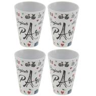 3661443546752 - Incidence - Mug expresso (set de 4) - Bonjour Paris