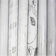 3329682118252 - Maildor - Un rouleau de papier cadeau blanc 80 g/m²