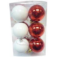 3602904749152 - Cora - Boïte de 12 boules rouges et blanches