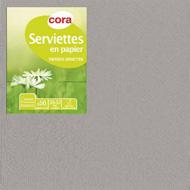3257982122054 - Cora - Serviettes gris 2 plis 33x33cm