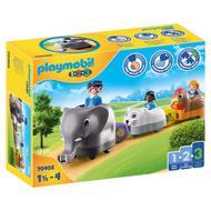 4008789704054 - PLAYMOBIL® 1.2.3 - Train des animaux