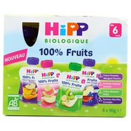 4062300264854 - Hipp - Gourdes Multipack 4 variétés bio dès 6 mois