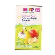 4062300220355 - Hipp - Gourde Pommes Poires Bananes bio 4/6 mois