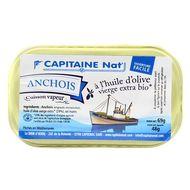 3522920003055 - Capitaine Nat - Anchois entier à l'huile olive bio