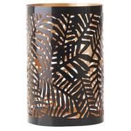 3065874327155 - Devineau - Photophore tropical métal noir intérieur or
