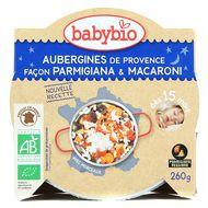 3288131530758 - Babybio - Aubergines de Provence façon Parmigiana et macaroni bio, dès 15 mois