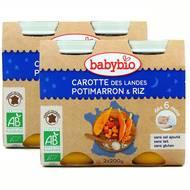 2050000312458 - Babybio - Carotte des Landes Potimarron Riz Bio, dès 6 mois