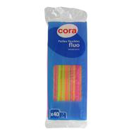Cora - Pailles flexibles fluo
