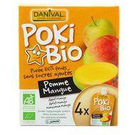 Poki bio Purée pomme-mangue Danival