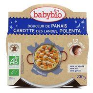 3288131501659 - Babybio - Bonne Nuit - Douceur de panaïs et carotte-polenta bio, dès 12 mois