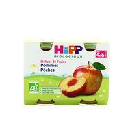 4062300055759 - Hipp - Pommes Pêches bio, dès 4/6 mois