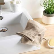 3574388009759 - Douceur D Interieur - 2 gants de toilette Eponge Taupe