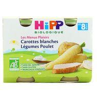 4062300259959 - Hipp - Carottes blanches Légumes Poulet bio, dès 8 mois