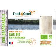 3426434000060 - Food4Good - 2 Filets de Bar Bio avec peau sans arête élevé en France