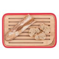 3760132811161 - Pebbly - Petite planche à pain Bambou Rouge