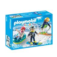 4008789092861 - PLAYMOBIL® Family Fun - Vacanciers aux sports d'hiver