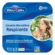 3153633460462 - Bleu calin - Couette légère anti transpi TOPCOOL
