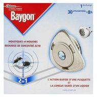 Recharge anti moustiques et mouche pour diffuseur de concentr actif baygon 30 x shoptimise for Peinture anti mouche
