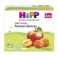 4062300069664 - Hipp - Coupelles Pommes Abricots bio, dès 4/6 mois