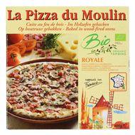 3273640001165 - La Pizza du Moulin - Pizza royale Bio Épaule, emmental et champignons cuite au feu de bois