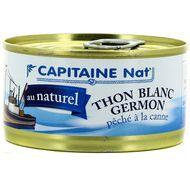 3522920004465 - Capitaine Nat - Thon blanc Germon au naturel, pêché à la canne