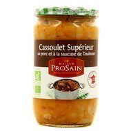 3335880006765 - Prosain - Cassoulet bio au porc et saucisses de Toulouse
