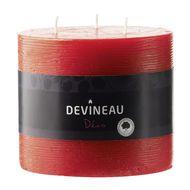3065876127265 - Devineau - Bougie brute multimèches rouge