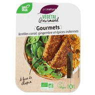 3760099537265 - Végétal Gourmand de Pronatura - Gourmets bio de lentilles corail, gingembre et épices indiennes, au lupin