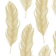 4021766217866 - Paperproducts Design - Serviettes papier plume dorée 33x33cm