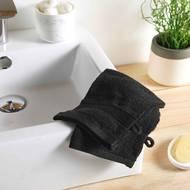3574388009766 - Douceur D Interieur - 2 gants de toilette Eponge Noir