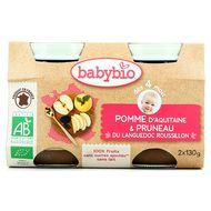 3288131510767 - Babybio - Mes Fruits - Pommes pruneaux bio, dès 4 mois