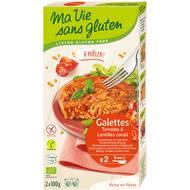 3380380057267 - Ma Vie Sans Gluten - Galettes Tomates & Lentilles corail, sans Gluten, Bio