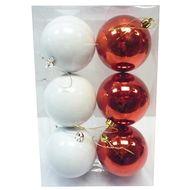 3602904749367 - Cora - Boîte de 6 boules rouges et blanches