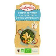 3288131520568 - Babybio - Pomme de terre, épinard, saumon à l'aneth bio dès 8 mois