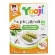 3760234501168 - Yooji - Mes petits Bâtonnets Bio- Jardinière de légumes, touche de chèvre dès 12 mois