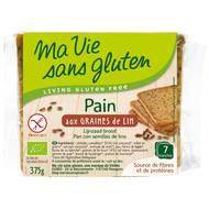 3380380072468 - Ma Vie Sans Gluten - Pain bio aux graines de lin sans gluten