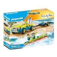 4008789704368 - PLAYMOBIL® Family Fun - Voiture avec canoë