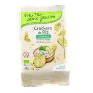 3380380077968 - Ma Vie Sans Gluten - Crackers riz romarin bio sans gluten