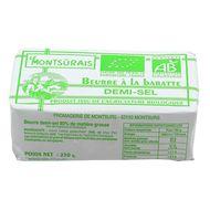 3350968953069 - Le Montsûrais - Beurre bio 1/2 Sel à la baratte