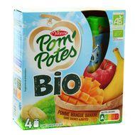 Materne - Pom'potes pomme mangue banane bio sans sucres ajoutés
