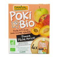 3431590012970 - Danival - Poki bio Purée pomme-pêche-abricot